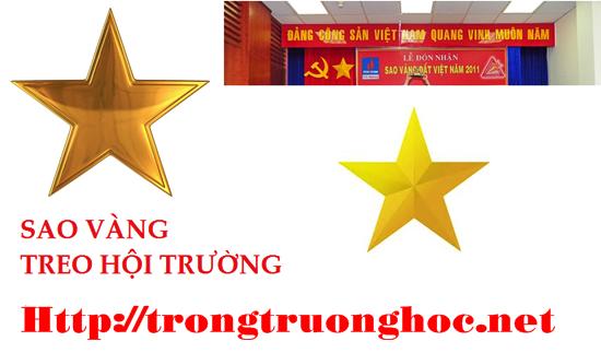 SAO VÀNG TREO PHÔNG RÈM HỘI TRƯỜNG